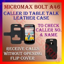 ACM-CALLER ID TABLE TALK CASE for MICROMAX BOLT A46 MOBILE FLIP FLAP COVER NEW