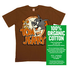 Cartoon - Helden - Tom & Jerry Logo - Bio - Organic - T-Shirt, braun - LOGOSHIRT