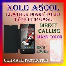 ACM-LEATHER DIARY FOLIO FLIP FLAP CASE for XOLO A500L MOBILE FRONT & BACK COVER