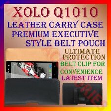 ACM-BELT CASE for XOLO Q1010 MOBILE LEATHER CARRY POUCH COVER CLIP HOLDER LATEST