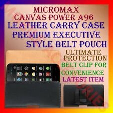ACM-BELT CASE for MICROMAX CANVAS POWER A96 MOBILE LEATHER CARRY POUCH COVER NEW
