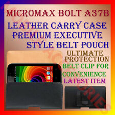 ACM-BELT CASE for MICROMAX BOLT A37B MOBILE LEATHER CARRY POUCH COVER HOLDER NEW