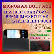 ACM-BELT CASE for MICROMAX BOLT A35 MOBILE LEATHER CARRY POUCH COVER HOLDER NEW