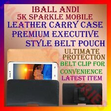 ACM-BELT CASE for IBALL ANDI 5K SPARKLE MOBILE LEATHER CARRY POUCH COVER CLIP