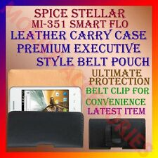 ACM-BELT CASE for SPICE MI-351 SMART FLO MOBILE LEATHER CARRY POUCH COVER HOLDER