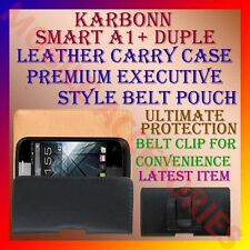 ACM-BELT CASE for KARBONN SMART A1+ DUPLE MOBILE LEATHER CARRY POUCH COVER NEW