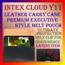 ACM-BELT CASE for INTEX CLOUD Y11 MOBILE LEATHER CARRY POUCH COVER CLIP HOLDER