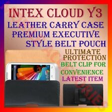 ACM-BELT CASE for INTEX CLOUD Y3 MOBILE LEATHER CARRY POUCH COVER CLIP HOLDER