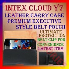 ACM-BELT CASE for INTEX CLOUD Y7 MOBILE LEATHER CARRY POUCH COVER CLIP HOLDER