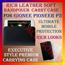 ACM-RICH LEATHER SOFT CARRY CASE for GIONEE PIONEER P3 MOBILE HANDPOUCH COVER