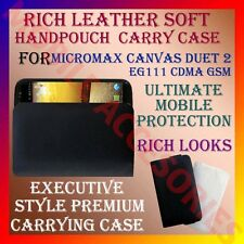 ACM-RICH LEATHER SOFT CARRY CASE for MICROMAX CANVAS DUET 2 EG111 POUCH COVER