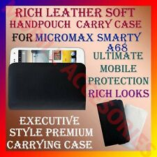 ACM-RICH LEATHER SOFT CARRY CASE for MICROMAX SMARTY A68 MOBILE HANDPOUCH COVER
