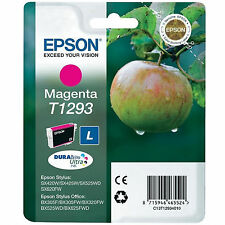GENUINE EPSON APPLE SERIES MAGENTA PRINTER INK CARTRIDGE C13T12934010 / T1293