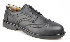 MENS MANAGERS GRAFTERS LEATHER SMART SAFETY TOE CAP SHOES  BROGUE BLACK WORK