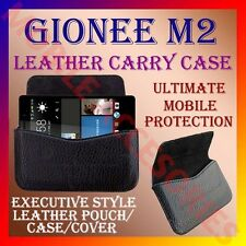 ACM-HORIZONTAL LEATHER CARRY CASE for GIONEE M2 MOBILE POUCH COVE RICH HOLDER