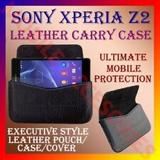 ACM-HORIZONTAL LEATHER CARRY CASE for SONY XPERIA Z2 MOBILE POUCH COVER HOLDER