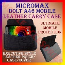 ACM-HORIZONTAL LEATHER CARRY CASE for MICROMAX BOLT A46 MOBILE POUCH COVER CASE