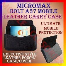 ACM-HORIZONTAL LEATHER CARRY CASE for MICROMAX BOLT A37 MOBILE POUCH COVER CASE