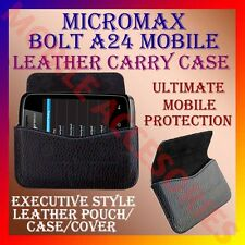 ACM-HORIZONTAL LEATHER CARRY CASE for MICROMAX BOLT A24 MOBILE POUCH COVER CASE