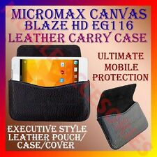 ACM-HORIZONTAL LEATHER CARRY CASE for MICROMAX BLAZE HD EG116 RICH POUCH COVER