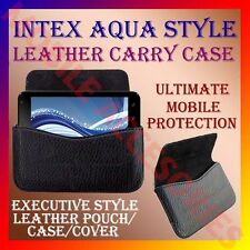 ACM-HORIZONTAL LEATHER CARRY CASE for INTEX AQUA STYLE MOBILE POUCH COVER HOLDER