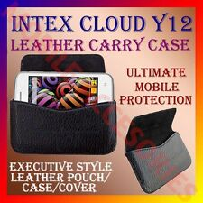ACM-HORIZONTAL LEATHER CARRY CASE for INTEX CLOUD Y12 MOBILE POUCH COVER HOLDER