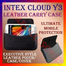 ACM-HORIZONTAL LEATHER CARRY CASE for INTEX CLOUD Y3 MOBILE POUCH COVER HOLDER
