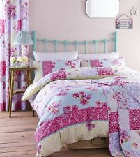 CATHERINE LANSFIELD GYPSY PATCHWORK FLORAL BEDDING QUILT SET, BEDSPREAD, PINK