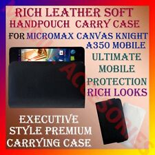 ACM-RICH LEATHER SOFT CARRY CASE for MICROMAX KNIGHT A350 MOBILE HANDPOUCH COVER