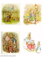 Peter Rabbit  iron on t shirt transfer or sticker  4 pictures on A4 sheet