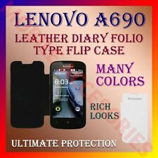 ACM-LEATHER DIARY FOLIO FLIP FLAP CASE for LENOVO A690 MOBILE FRONT/BACK COVER