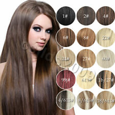 New Full Head Set Clip In 100% Human Remy Hair Extensions 7pcs/set all size