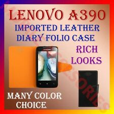 ACM-GENUINE LEATHER IMPORTED CASE for LENOVO A390 DIARY FOLIO FLIP FLAP COVER