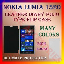 ACM-LEATHER DIARY FOLIO FLIP CASE COVER for NOKIA LUMIA 1520 MOBILE FRONT/BACK