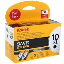 GENUINE ORIGINAL KODAK 10B / 10XL HIGH CAPACITY BLACK INK CARTRIDGE TWIN PACK