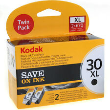 GENUINE KODAK 30XL (30B) HIGH CAPACITY BLACK PRINTER INK CARTRIDGE TWIN PACK