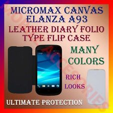 ACM-LEATHER DIARY FOLIO FLIP FLAP CASE for MICROMAX ELANZA A93 MOBILE FULL COVER