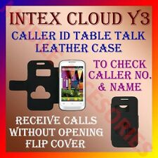 ACM-CALLER ID TABLE TALK CASE for INTEX CLOUD Y3 MOBILE FLIP LEATHER CARRY COVER