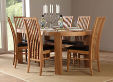Clifton & Newark Oval Oak Dining Room Table and 4 6 Chairs Set (Brown)