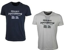 MENS TSHIRT FRENCH CONNECTION 56BGO MARINE BLUE AND MILK WHITE TOP ALL SIZES