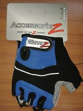 Glovez Road + Mountain Bike Cyling Mitts Fingerless Gloves - Blue Red RRP£15