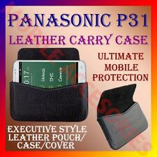 ACM-HORIZONTAL LEATHER CARRY CASE for PANASONIC P31 MOBILE POUCH HOLDER COVER