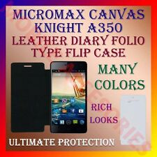ACM-LEATHER DIARY FOLIO FLIP FLAP CASE for MICROMAX CANVAS KNIGHT A350 COVER NEW