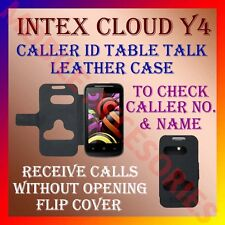 ACM-CALLER ID TABLE TALK CASE for INTEX CLOUD Y4 MOBILE FLIP FRONT & BACK COVER