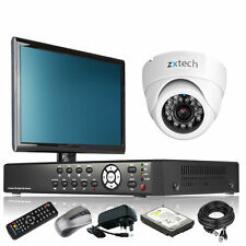 1 x IR Night Vision Camera Full 960H 4 CH DVR CCTV Kit iPhone View with Monitor