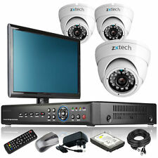 3 x Sony Effio-E Camera Full 960H 4 CH DVR CCTV System Complete Pack Monitor UK