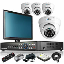 4 x Day Night Camera Full 960H 4 CH DVR CCTV Package All Inclusive with Monitor