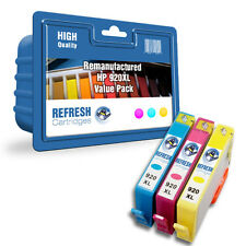 REMAUNFACTURED HP 920XL HEWLETT PACKARD INK CARTRIDGES - 3 COLOUR VALUE PACK
