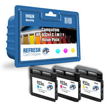 REMANUFACTURED HP 933XL HIGH CAPACITY - 3 COLOUR INK CARTRIDGE VALUE PACK