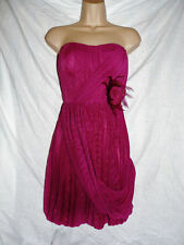 BNWT NEXT NEW ladies burgundy Pink Corsage Party Evening Bandeau dress SIZES